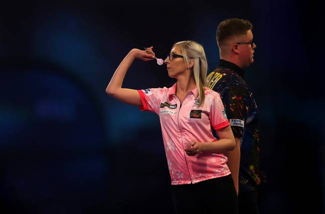 Sherrock stunned the crowd in London to defeat Ted Evetts in the PDC World Championships. Credit: PA