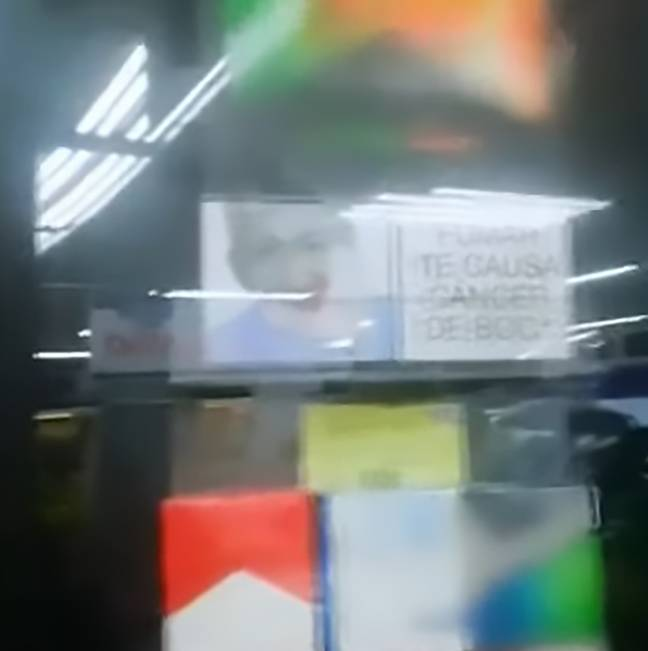 The cigarette packets with Mr Rodriguez's face. Credit: CEN