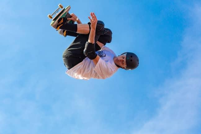 Tony Hawk, defying gravity back in 2019. Credit: PA