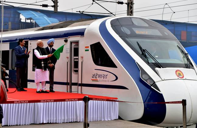 Prime Minister Modi inaugurated the train on Friday. Credit: PA
