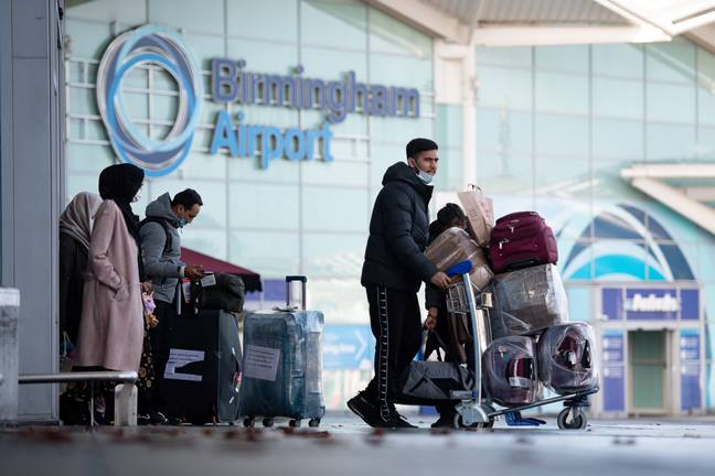 Only five airports can take travellers from red list countries at the moment. Credit: PA