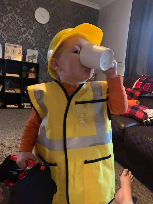 Jax knows how to make a brew, which is more than can be said for many adults. Credit: Florence Taylor/@montessoraus.mama