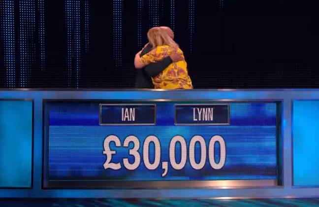 Congrats, Ian and Lynn. Credit: ITV/The Chase