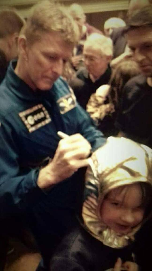 Hayden even met his idol, Tim Peake. Credit: LADbible
