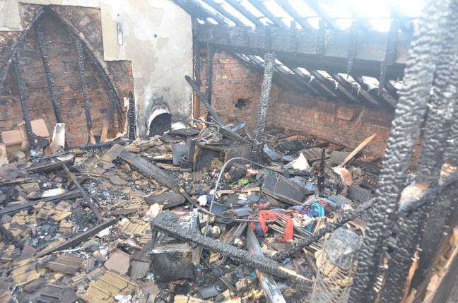 The house after the blast. Credit: Liverpool Echo