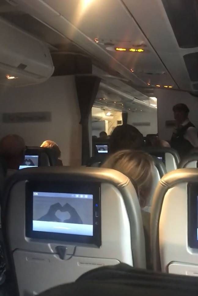 Passengers cheered and clapped as Alex gave an emotional speech. Credit: Kennedy News and Media