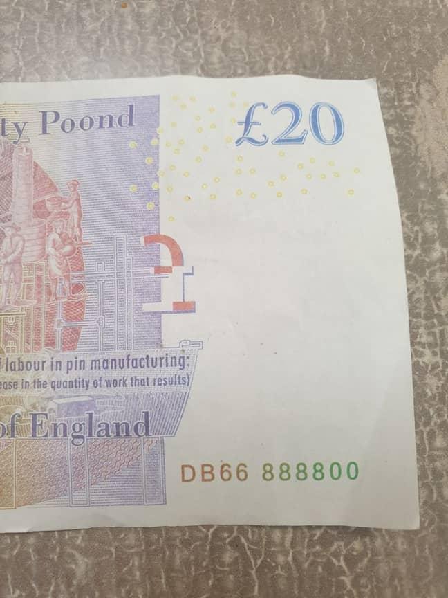 The 'twenty poond' note. Credit: Jam Press