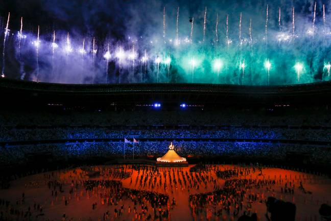 Fewer than 1,000 people were in the stadium for the opening ceremony. Credit: PA
