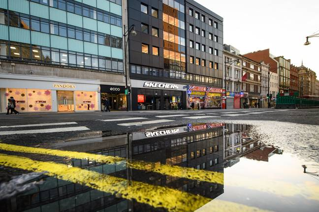 London's Oxford Street has been left derelict throughout the lockdowns. Credit: PA