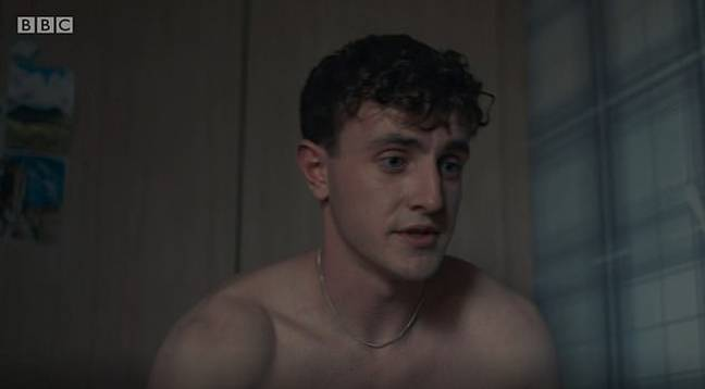 Connell (Paul Mescal) in the highly praised sex scene in BBC's Normal People. Credit: BBC