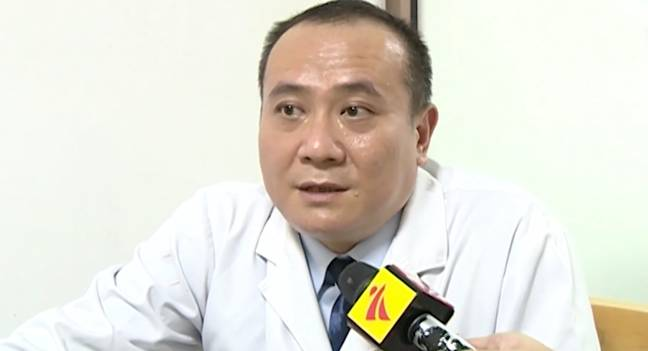 Dr Jun revealed the patient's unusual explanation for the misplacement of the bottle. Credit: Asia Wire
