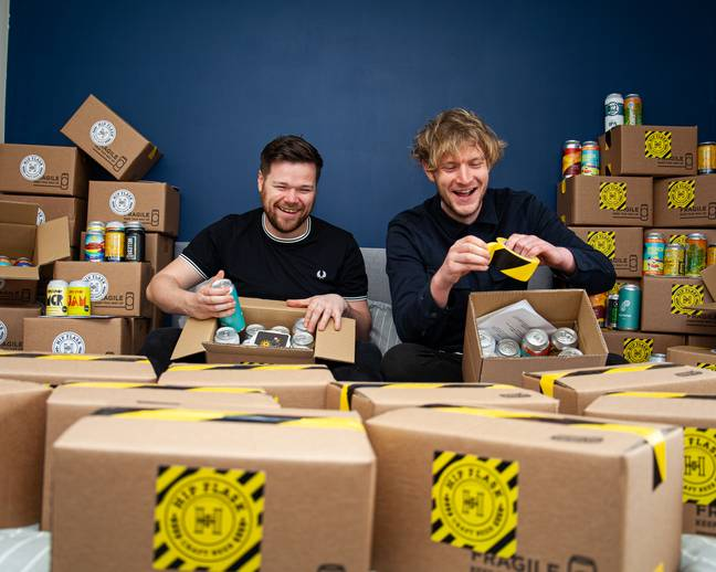 Hip Flask co-founders Phil Atkinson and Sam Sidebotham. Credit: Jack Howard