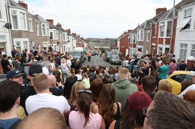 Earlier this month crowds gathered to watch filming. Credit: PA