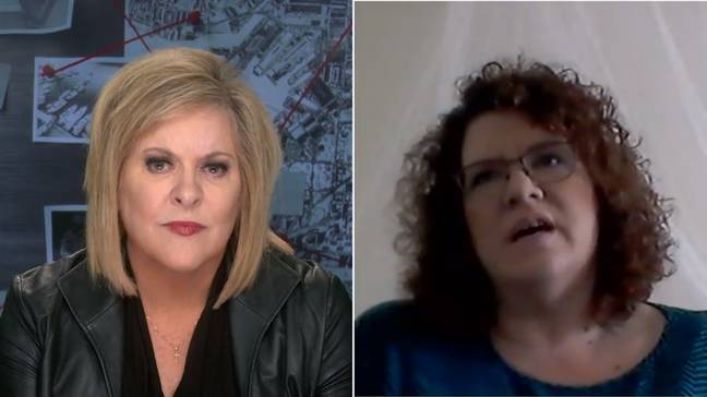 A juror on Joe Exotic's trial (right) speaks to Nancy Grace in a new Fox Nation series. Credit: Fox