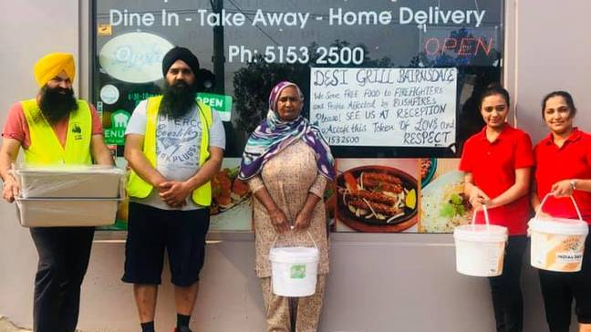 Indian Restaurant Hands Out Free Meals To Hundreds Of Australians Affected By Bushfires. Credit: Desi Grill Bairnsdale
