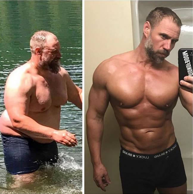 The 40-year-old decided to get fit after feeling out of breath during a family hiking trip. Credit: Jeremiah Peterson