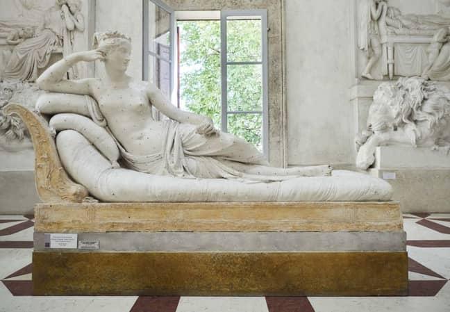 The sculpture. Credit: Facebook/Museo Gypsotheca Antonio Canova