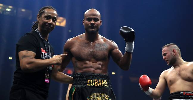 Sebastian Eubank during his bout against Kamil Kulczvk in a Light Heaveyweight contest at the Manchester Arena. Credit: PA