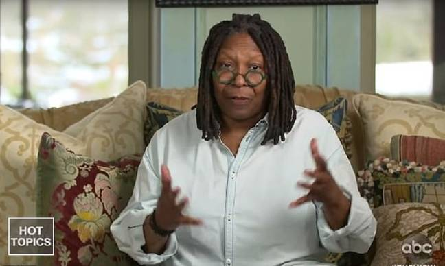 Whoopi appeared in a pre-recorded message. Credit: ABC/The View