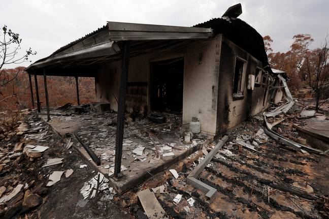 Thousands of homes have been destroyed since the fires began. Credit: PA