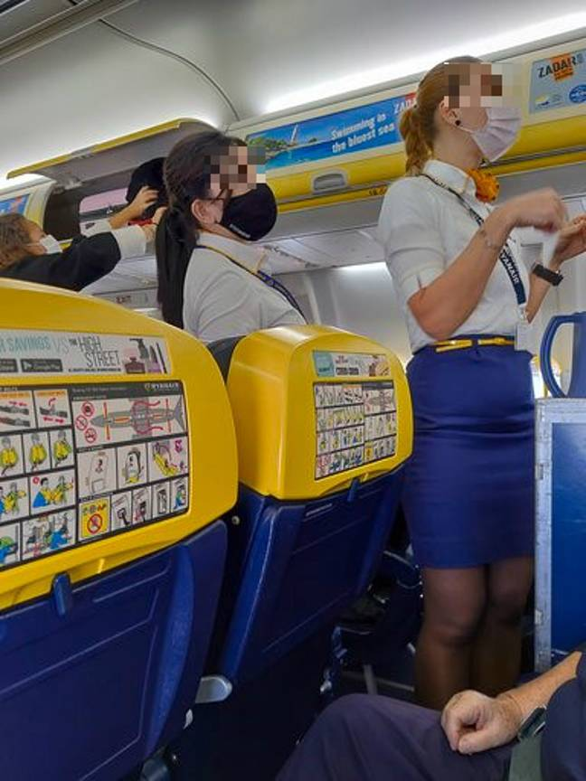 Bluebell claims Ryanair staff were wearing reusable face masks. Credit: Triangle