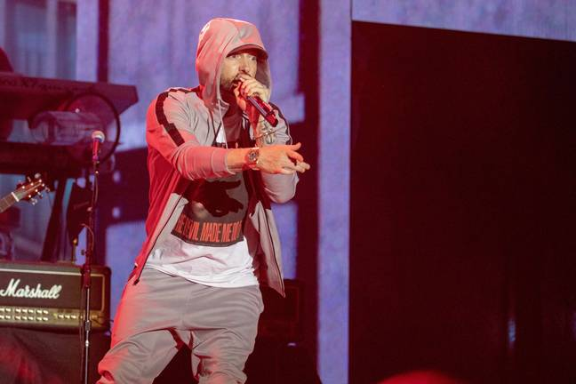 Eminem knows how to put on a show Credit: PA