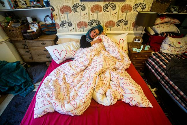 We wonder whether she can change the cover of the duvet. Credit: SWNS