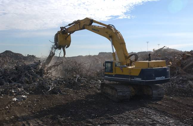 The Fresh Kills landfill site back in 2002. Credit: Shutterstock