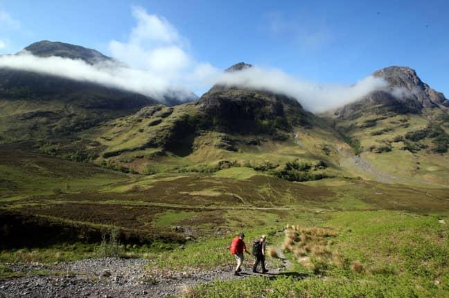 Three Sisters mountain range in Glencoe Valley, Scotland (Credit: PA)