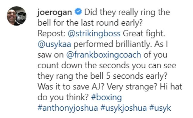 Credit: Instagram/Joe Rogan