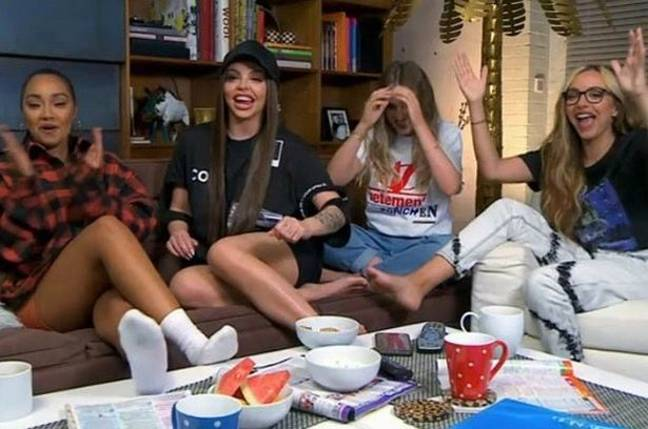 Little Mix appeared on a celebrity special of Gogglebox last night. Credit: Channel 4