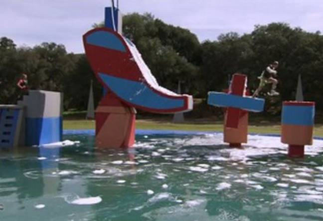 A contestant died after completing the obstacle course. Credit: ABC