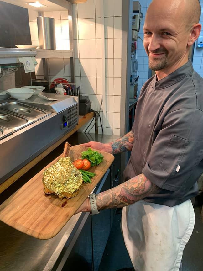 Scott is serving a cheaper golden steak alternative. Credit: Solent News