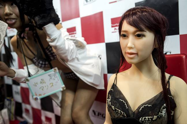 An adult sex doll at a convention in Japan. Credit: PA
