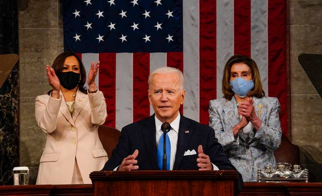President Biden recently gave his first address to a joint session of Congress. Credit: PA