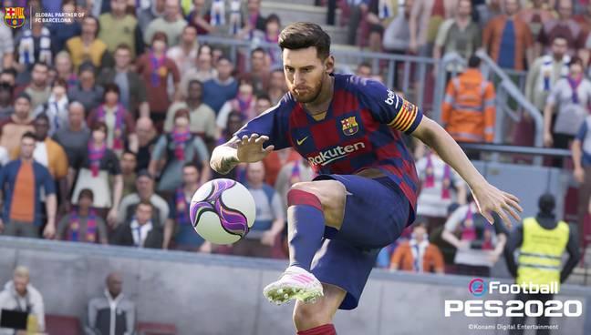 Manchester United Will Soon Feature in PES 2020 Alongside Messi. Credit: Konami