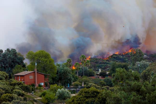 A fire in Alpine, California. Credit: PA