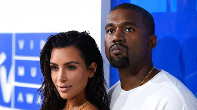 Kim Kardashian and Kanye West arrive at the MTV Video Music Awards in New York. Credit: PA
