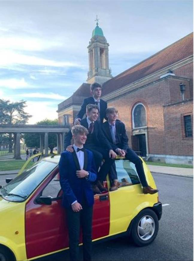 The Inbetweeners tribute act headed off to prom. Credit: LADbible