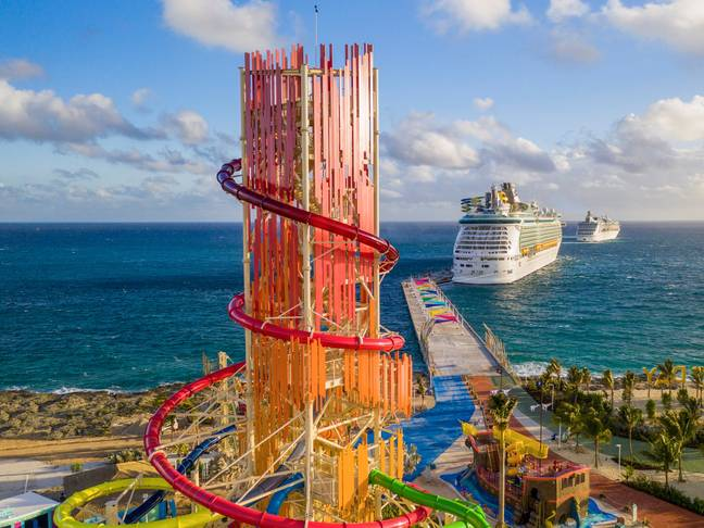 The 135ft water slide. Credit: Royal Caribbean