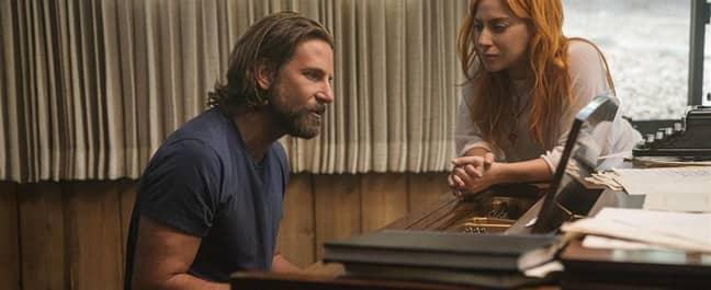Bradley Cooper and Lady Gaga in 'A Star Is Born'. Credit: Warner Bros.