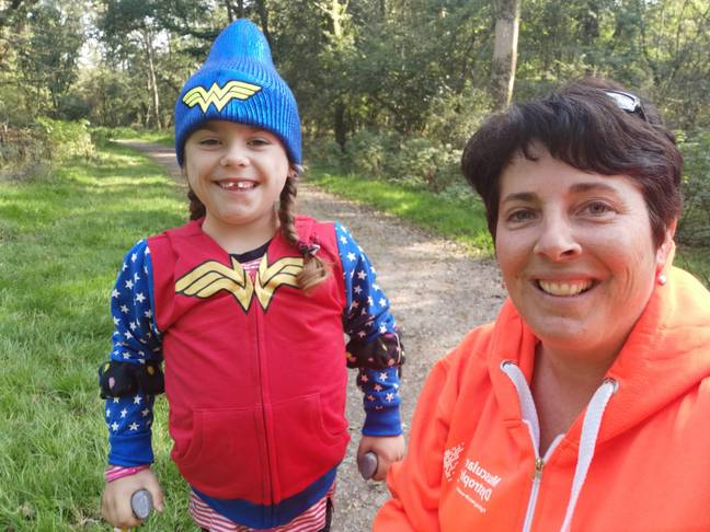 Carmela thinks she is 'indestructible'. Credit: Muscular Dystrophy UK