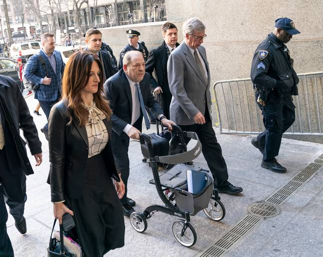 The former film producer was handed his sentence at a hearing in New York today. Credit: PA
