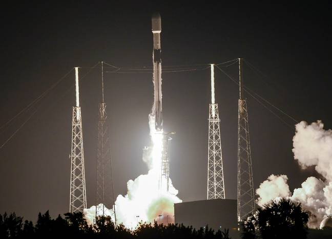 The latest batch of 60 starlink satellites were launched from Cape Canaveral yesterday. Credit: PA
