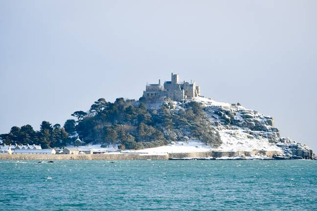 The castle in the snow. Credit: PA