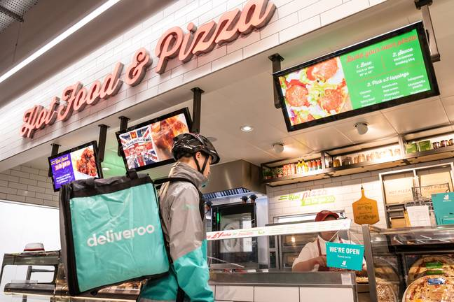 Sainsbury's has become the first UK supermarket to deliver hot takeaways via Deliveroo. Credit: Deliveroo