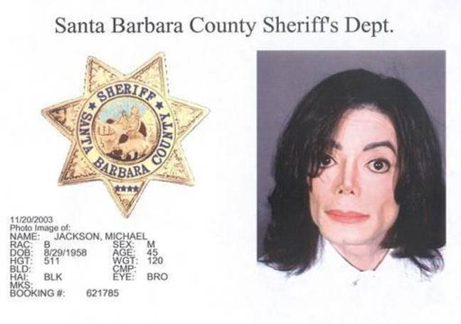 Michael Jackson was booked on 20 November 2003 on child molestation charges. Credit: PA
