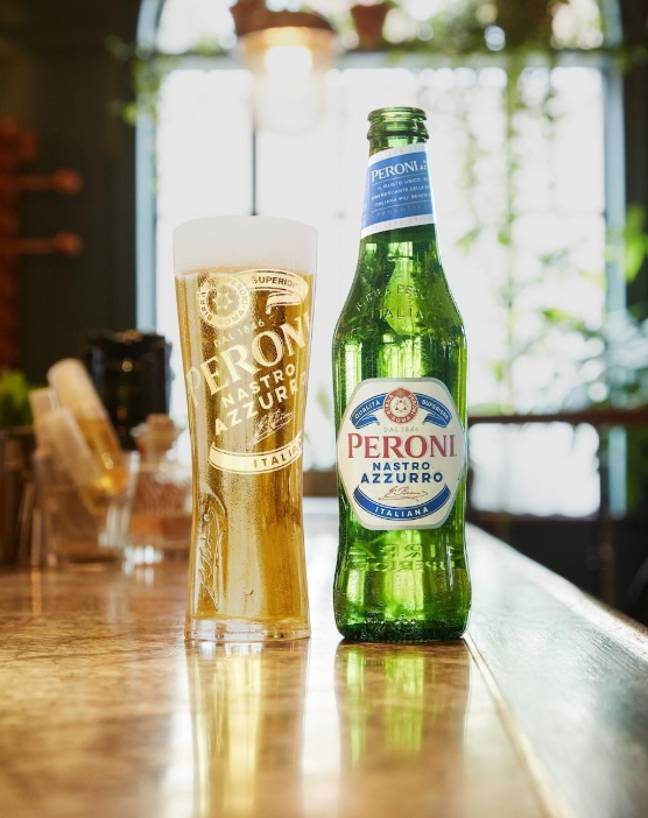 Complete the look this summer with the 'greatest larger in the world', Peroni. Credit: PA