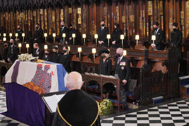 Prince Philip was laid to rest at St George's Chapel, Windsor. Credit: PA