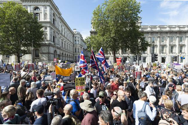Protesters took to the streets to campaign against Johnson's decision to suspend Parliament. Credit: PA